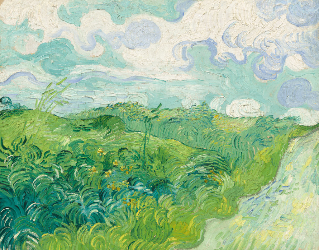Vincent van Gogh (Dutch, 1853 - 1890 ), Green Wheat Fields, Auvers, 1890, oil on canvas, Collection of Mr. and Mrs. Paul Mellon
